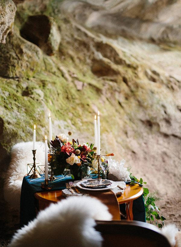 tablescapes - photo by Sonia Bourdon Photographe http://ruffledblog.com/geometric-gems-styled-elopement
