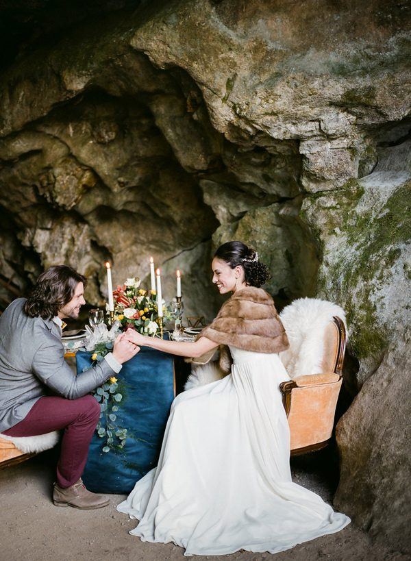 Canadian weddings - photo by Sonia Bourdon Photographe http://ruffledblog.com/geometric-gems-styled-elopement