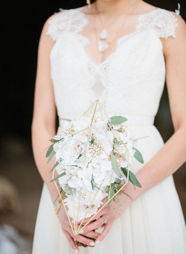 wedding bouquets - photo by Sonia Bourdon Photographe http://ruffledblog.com/geometric-gems-styled-elopement