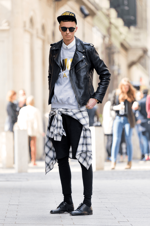 Ideas for Men to wear Leather Jackets (7)