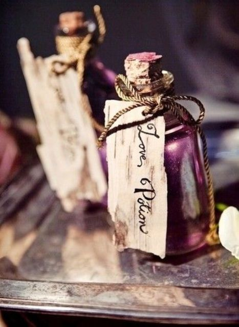 love potion favors that contain alcohol