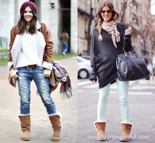 How to wear Shearling Boots - Ideas to wear Dresses with boots (10)