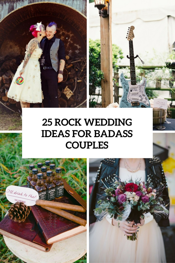 rock wedding ideas for badass couples cover