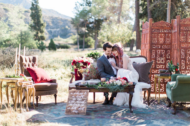 Outdoor lounge area | Molly Lichten Photography