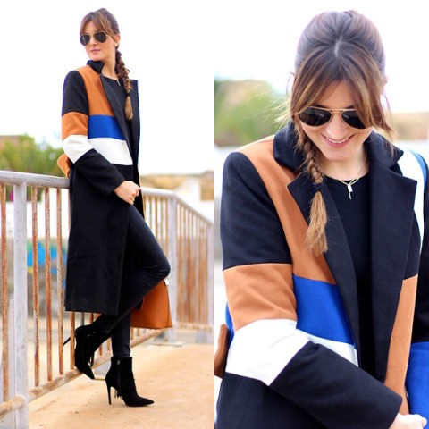 With suede black ankle boots