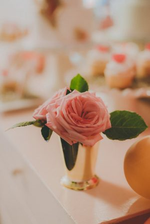 Pink Wedding Centerpiece- Cristina Navarro Photography