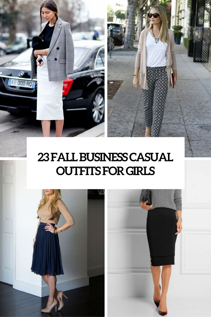 fall business casual outfits for girls cover