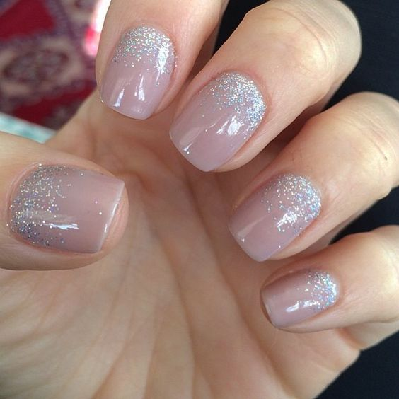 neutral color with glitter