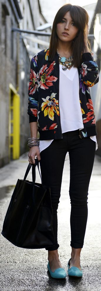 How to Wear Outfits With Bomber Jacket (21)