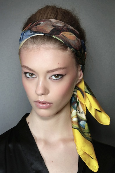 #9 - Revived Scarf Head Updo Style