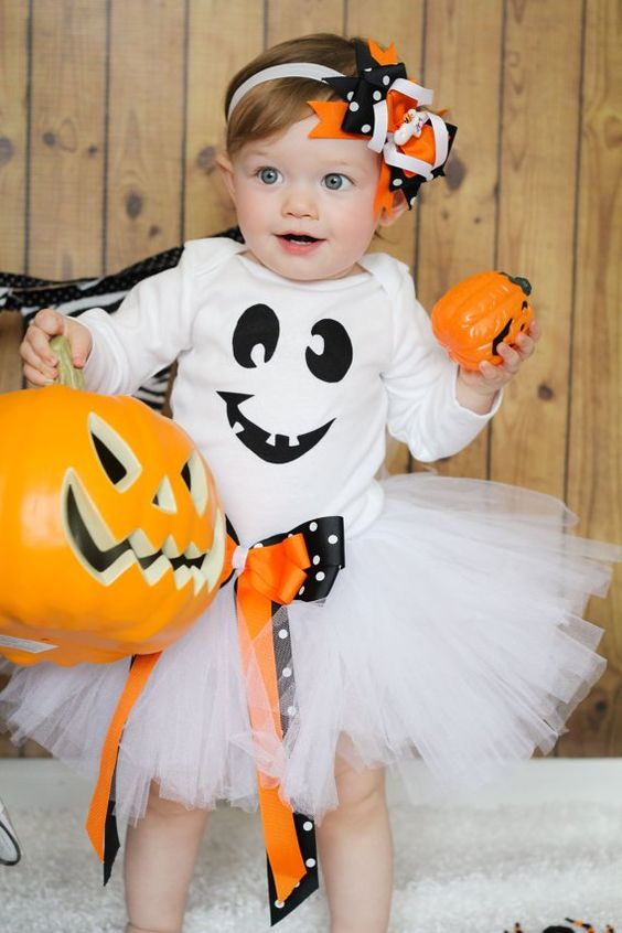 ghost look for the smallest ones with black and orange accents