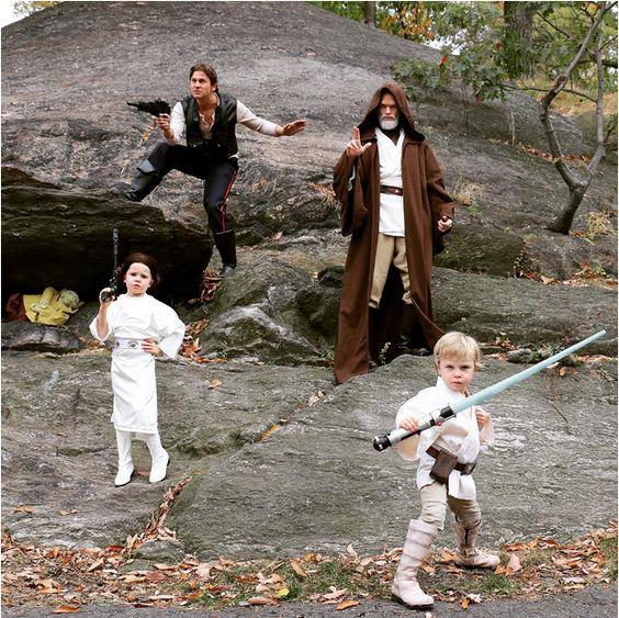 group look with Han Solo, Leia and Luke