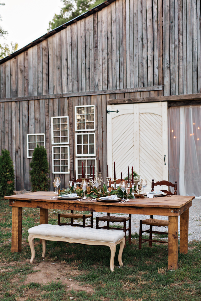 Southern fall wedding reception | Amilia Photography