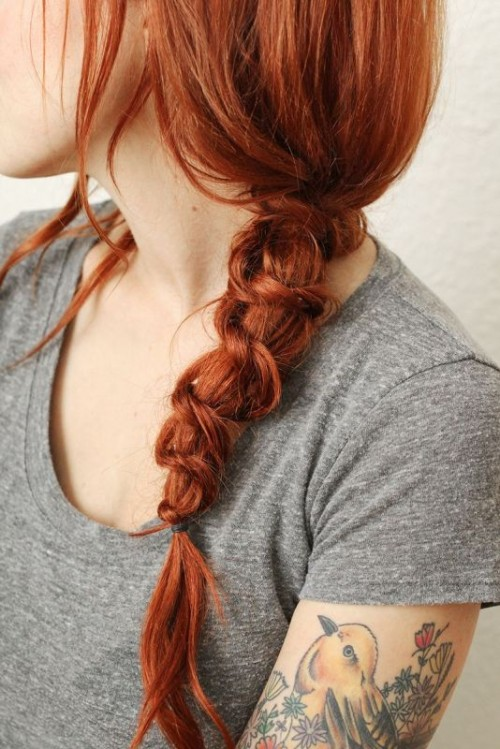 messy knot braid is a fresh take on a traditional one