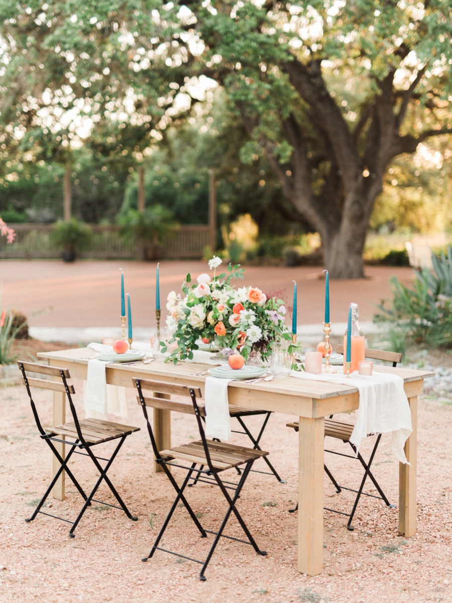 reception table - http://ruffledblog.com/watercolor-greenhouse-wedding-inspiration