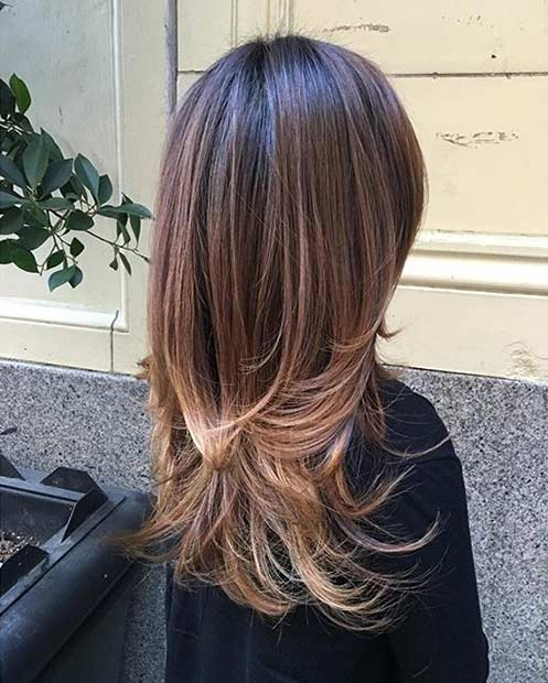 Two Length Layers for Long Hair