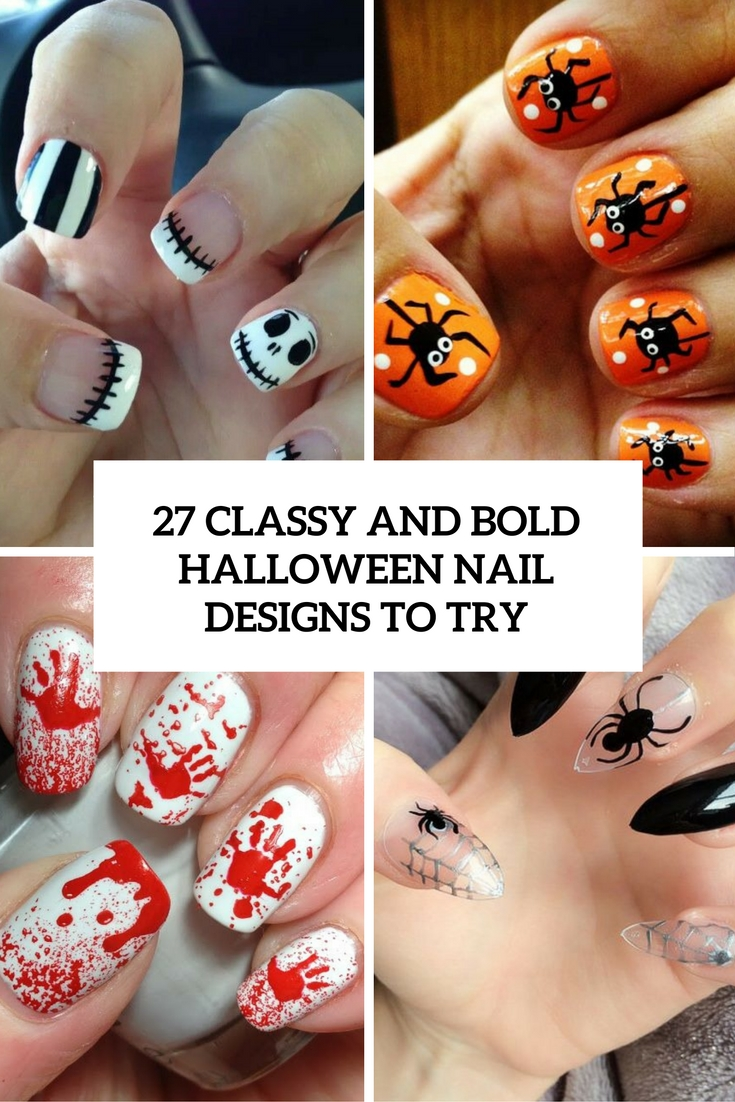 27 Classy And Bold Halloween Nail Designs To Try | Beauty