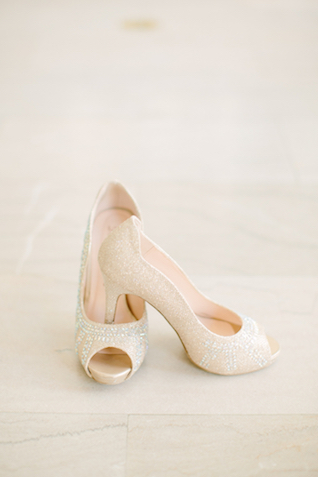 Glamorous beaded wedding shoes | Sarah Pudlo & Co