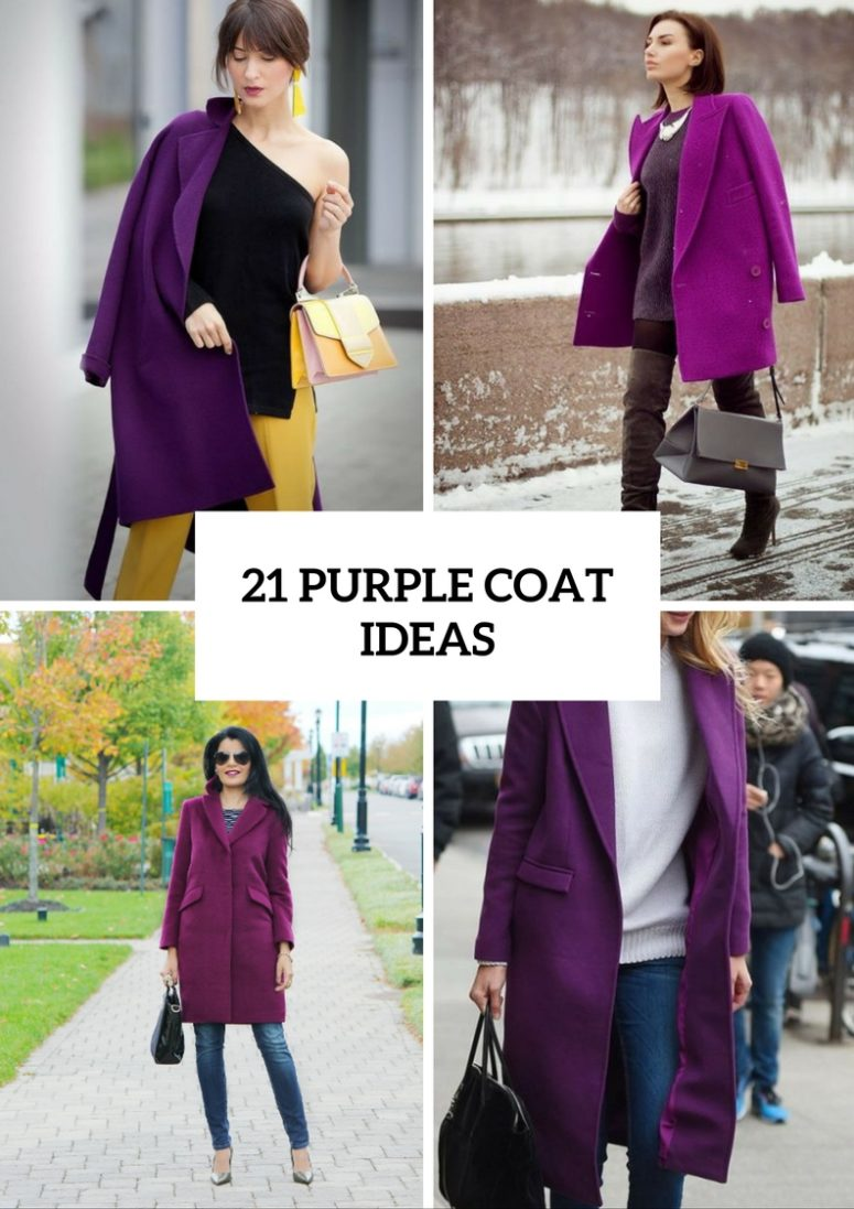 Eye Catching Purple Coat Ideas For This Fall