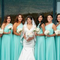 Aqua bridesmaids dresses - Will Pursell Photography