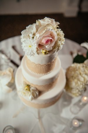 Floral wedding cake - Will Pursell Photography