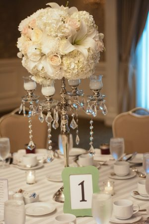 Tall wedding centerpiece - Will Pursell Photography