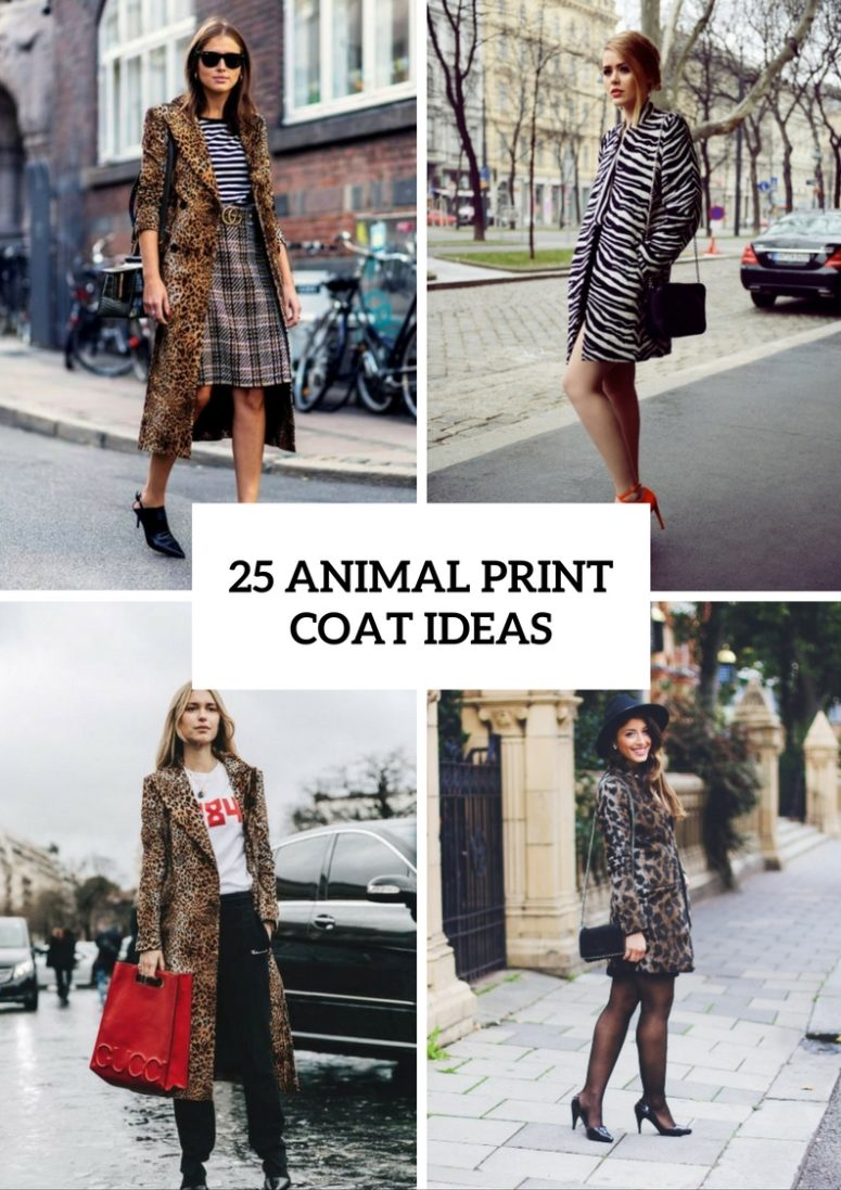 Animal Print Coat Outfits For Fall And Winter