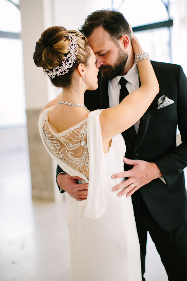 Glamorous sheath wedding dress | Sarah Pudlo & Co