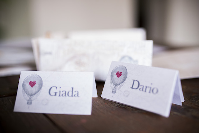 Hot air balloon place cards | Non Solo Spose