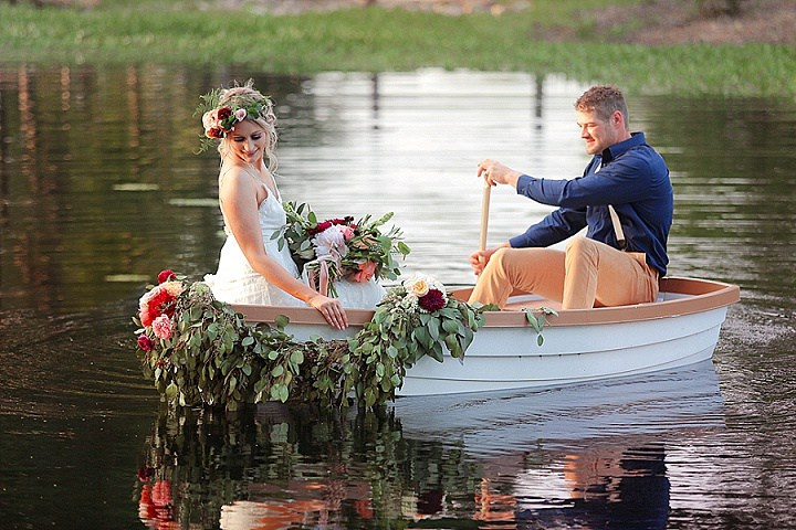 A boat can be used for leaving the ceremony place or exit