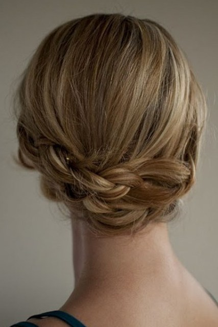 make a double braid for a cool updo