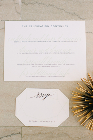 Classic wedding invitations | Sarah Pudlo & Co