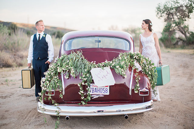 Vintage getaway car | Ashley Burns Photography