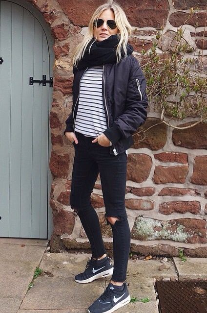 How to Wear Outfits With Bomber Jacket (17)