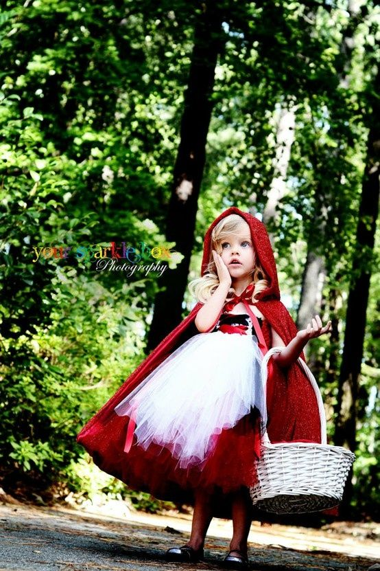 Little Red Riding Hood costume with a basket