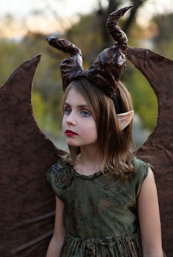 Maleficent with horns and wings