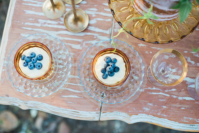 Blueberry tart desserts | Ashley Burns Photography