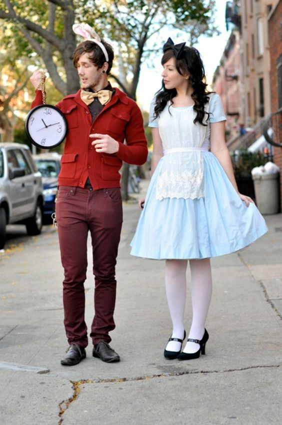 Alice and the White Rabbit for Halloween