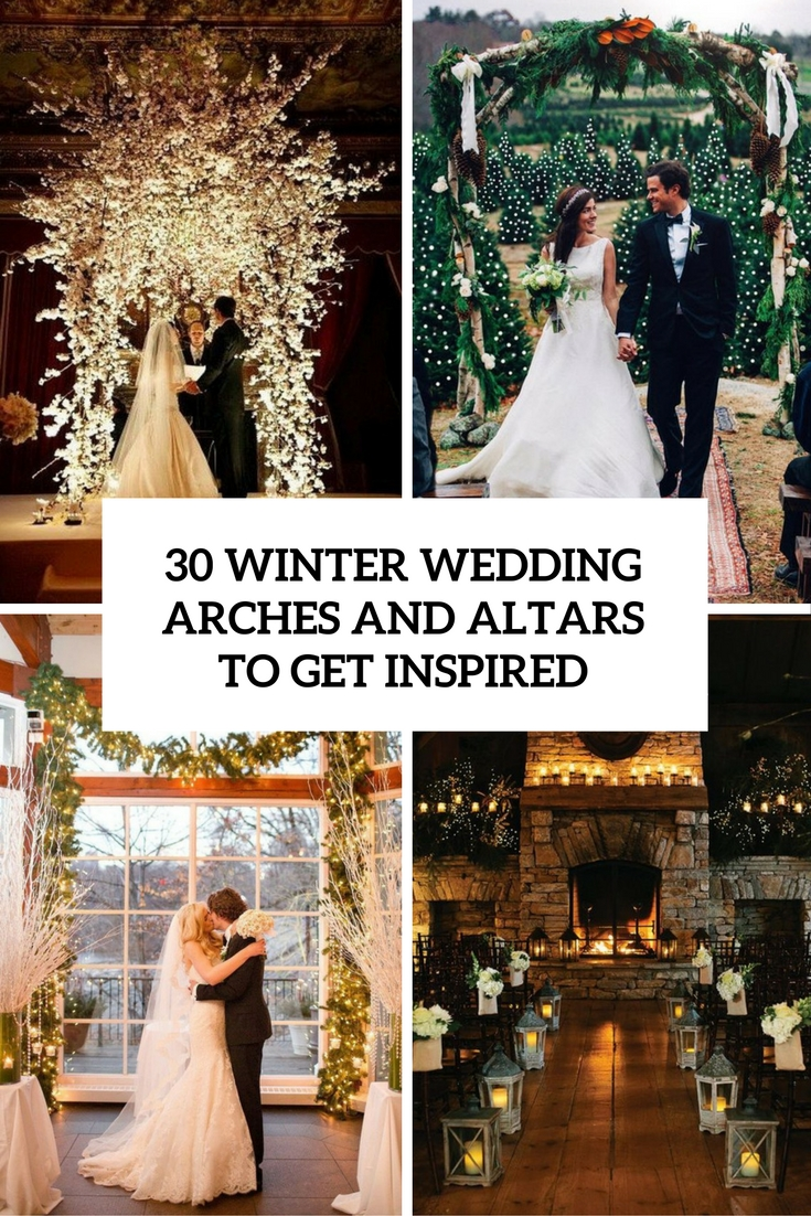 winter wedding arches and altars to get inspired cover