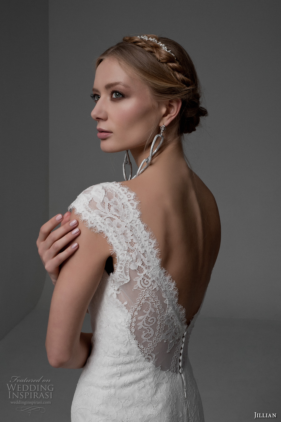 jillian 2017 bridal cap sleeves v neck full embellishment beautiful elegant mermaid wedding dress v back chapel train (manuela) zbv