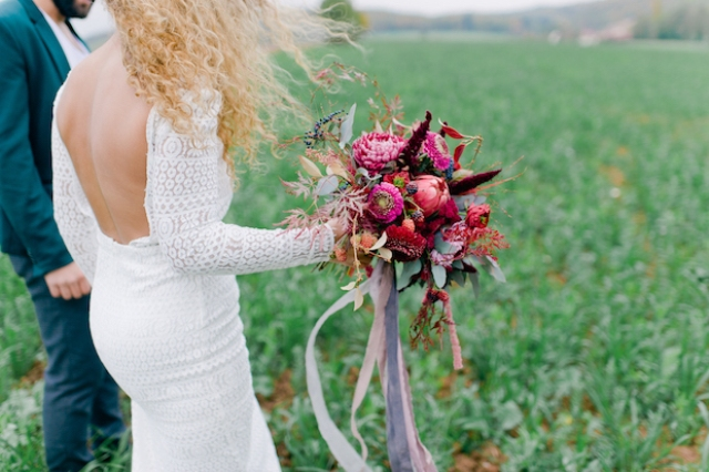 Intimate boho chic wedding in Germany with a feel of late summer