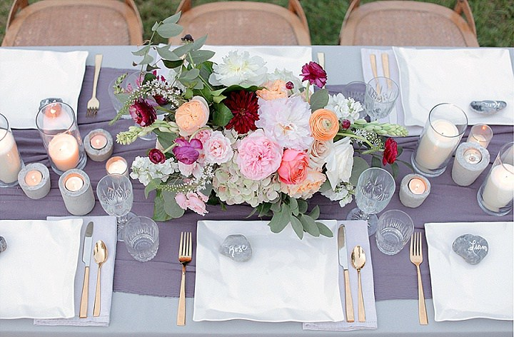 The table setting is gentle and southern-inspired