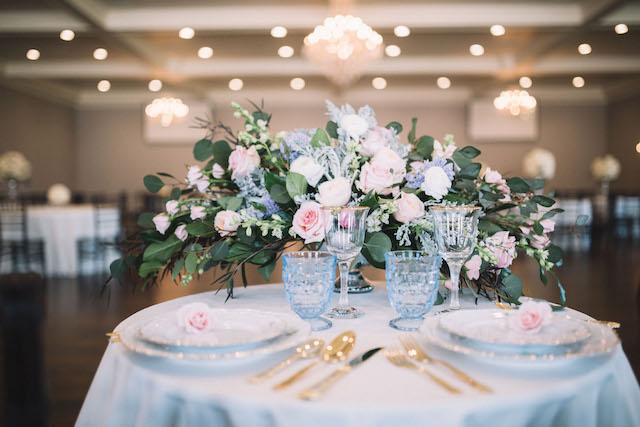 Pastel floral centerpiece | Alba Rose Photography