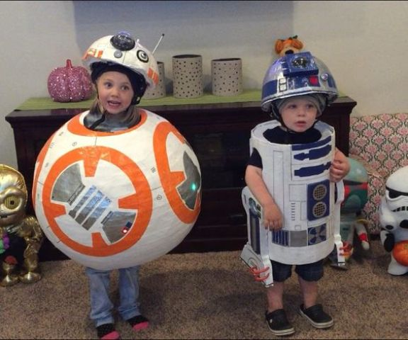 Star Wars inspired costumes fit both girls and boys