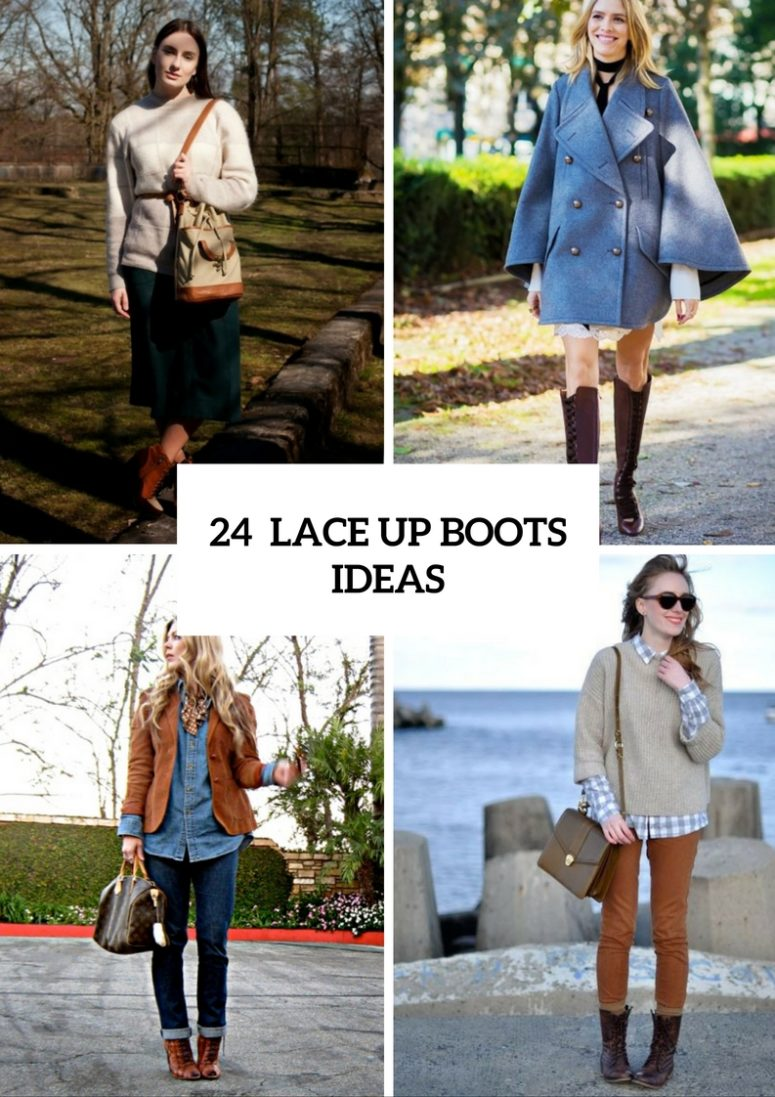 Cool Ideas To Wear Lace Up Boots This Fall