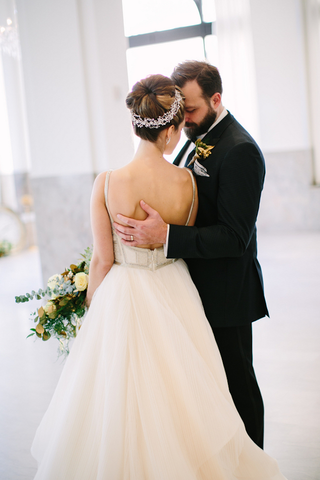 Hayley Paige beaded bodice full skirt wedding dress | Sarah Pudlo & Co