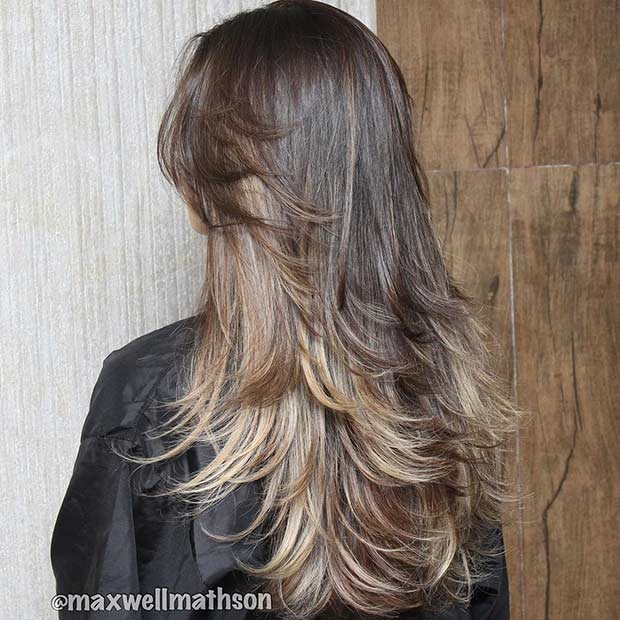 Long Layered Haircut for Brunettes