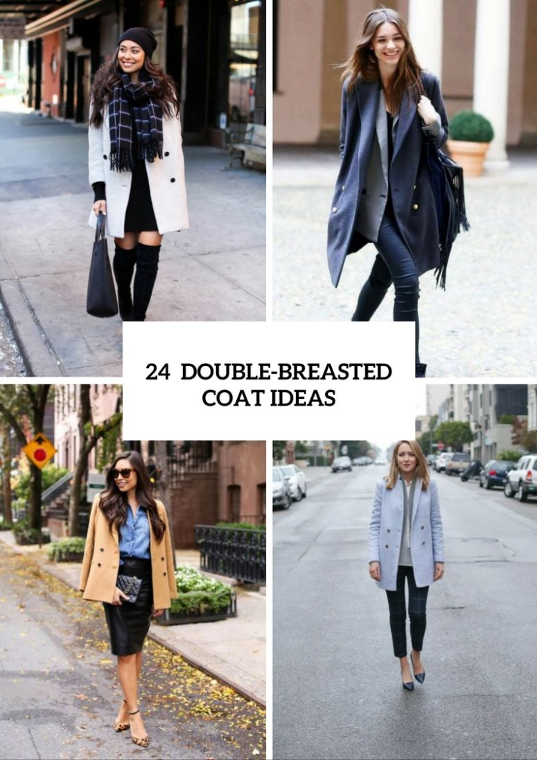 Double Breasted Coat Ideas For Ladies