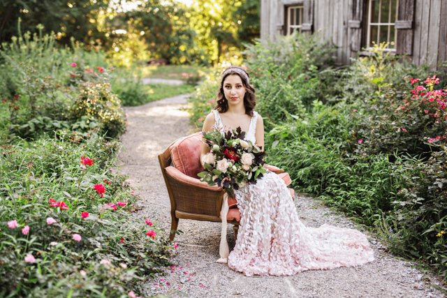 Ombre petal wedding dress | Amilia Photography