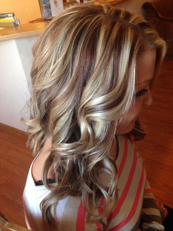 multi-colored highlights on a brown base